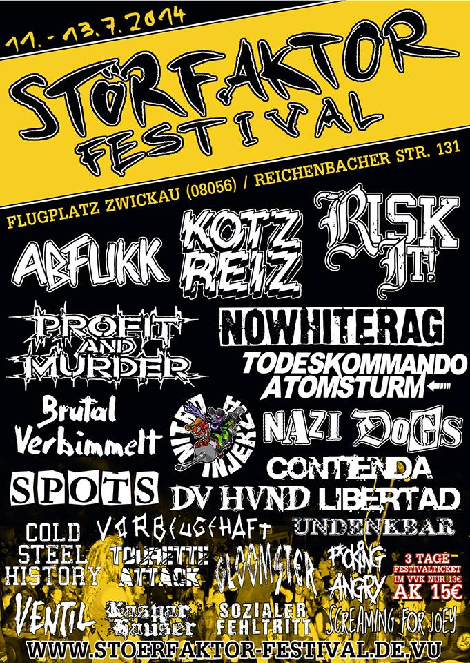 plakát Storfaktor festival 2014